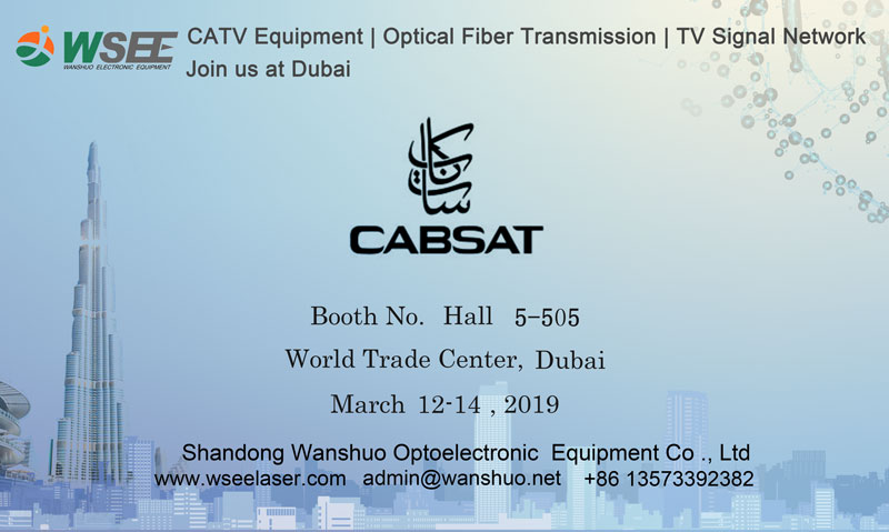 WSEE to attend CABSAT 2019 Dubai with advantaged CATV products