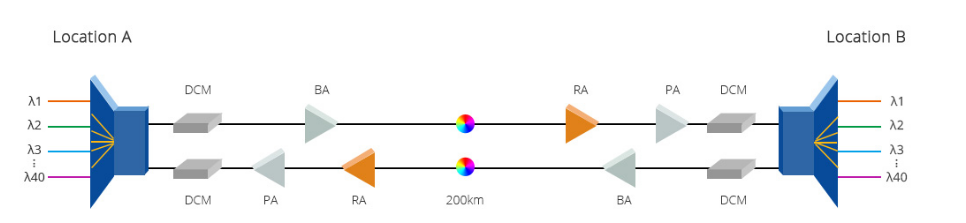Joint application of EDFA and Raman optical amplifier
